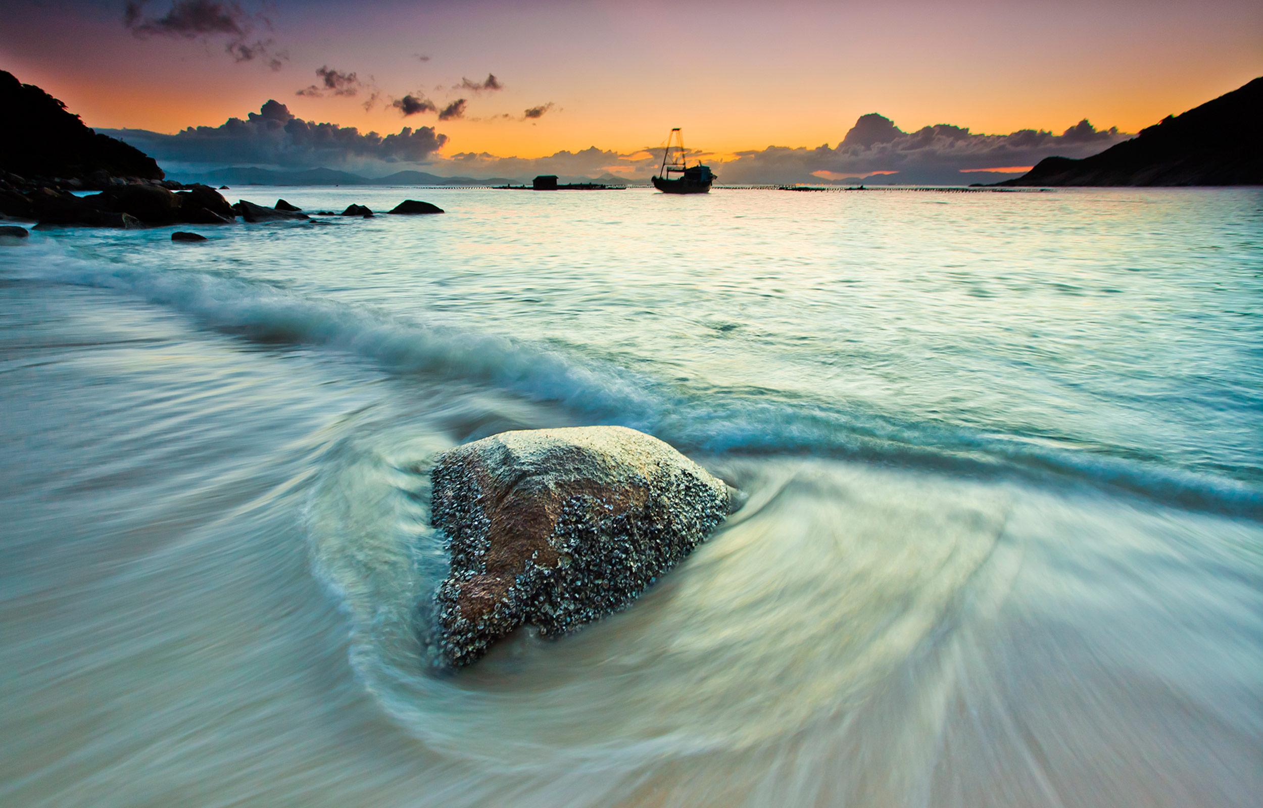 海景慢门摄影作品